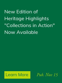 """Heritage Highlights: """"Collections In Action"""""""