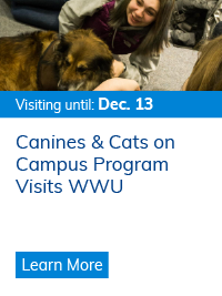Canines & Cats on Campus Program Visits WWU