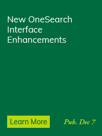 OneSearch Interface Enhancements Coming January 4
