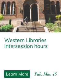 Western Libraries Intersession Hours