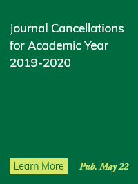 Journal Cancellations for 2019-2020