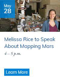 Melissa Rice to Speak May 28 about Mapping Mars