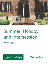 Western Libraries Summer, Holiday, & Intersession Hours