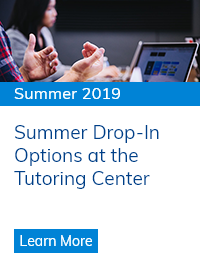 Summer Drop-In Options at the Tutoring Center