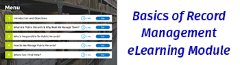 Basics of Record Management eLearning Module