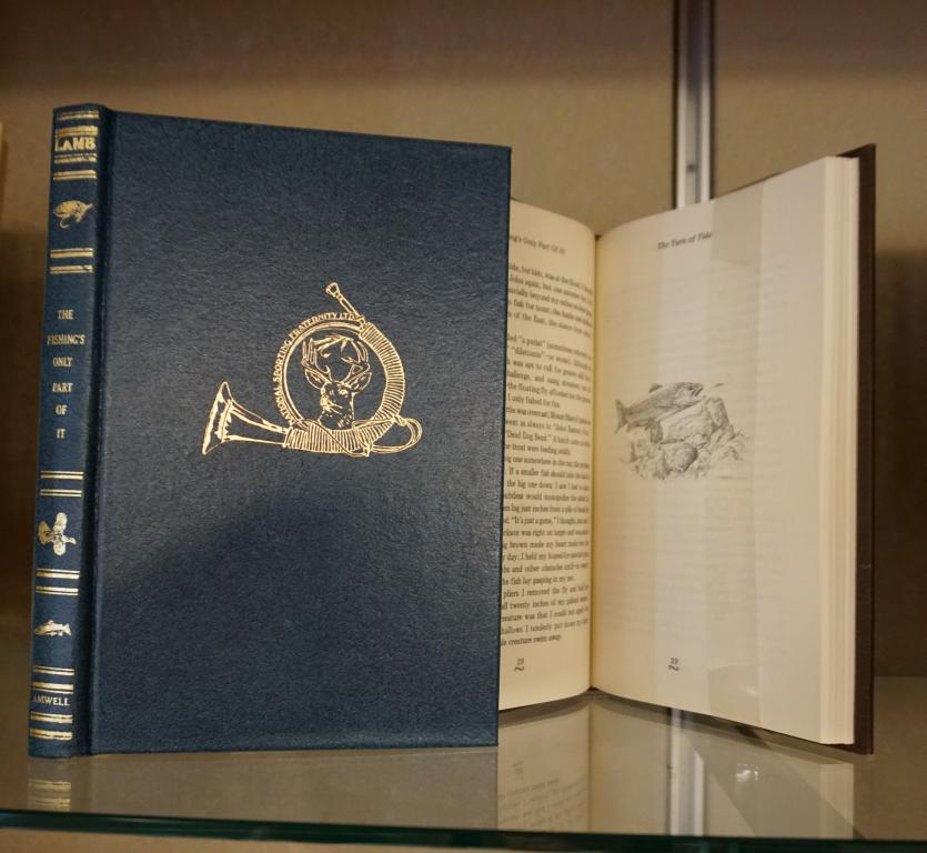Image of deluxe edition book titled, The Fishing's Only Part of It by Dana Lamb.