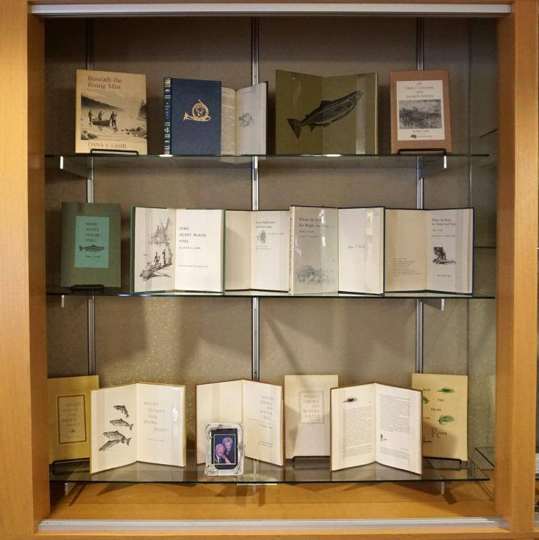 Photograph of books on display in display case number 7