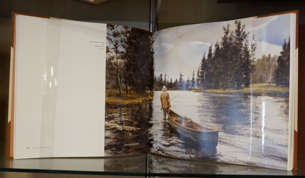 Image of the interior of the book, The Fine Art of Angling: Ten Modern Masters.