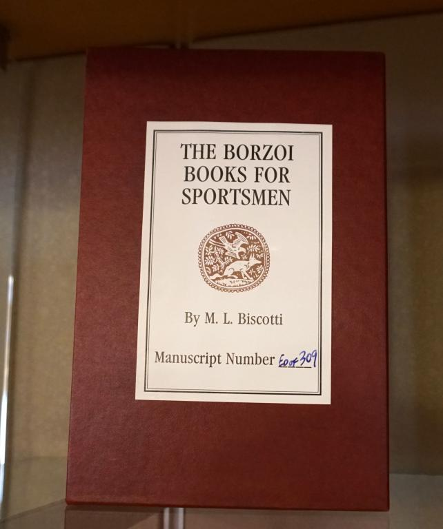 Image of book titled The Borzoi Books for Sportsmen in display case eight