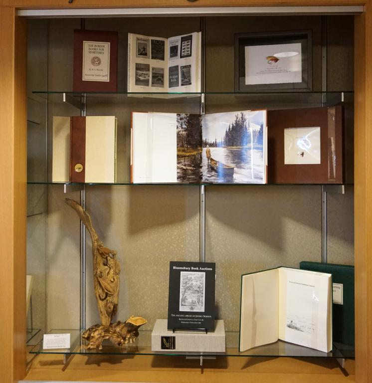 Image of display case featuring Ford books with an emphasis on bibliographies