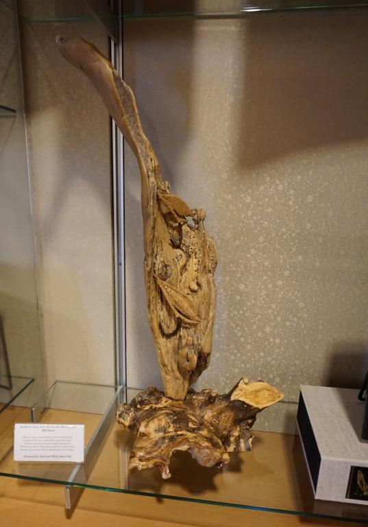 Carved art piece from driftwood found along the Wenatchee River