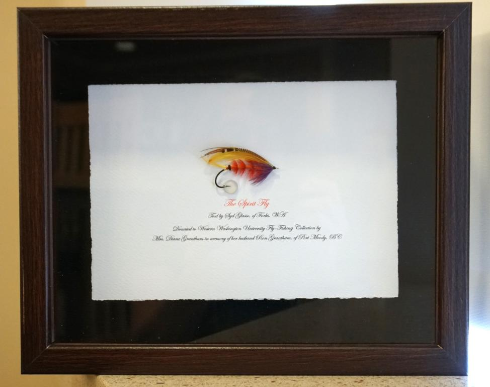 Mounted and framed fly created by Syd Glasso, framed and mounted by Art Lingren