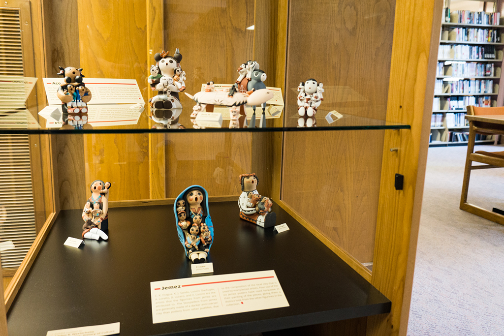 Group photo, display case close-up