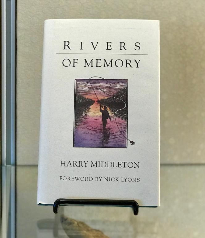 Rivers of Memory by Harry Middleton, on display.