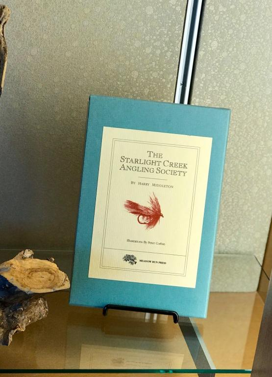 The Starlight Creek Angling Society, limited edition, by Harry Middleton, on display.