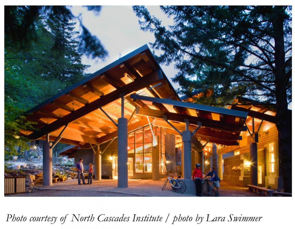 Photo of the North Cascades Institute Learning Center building