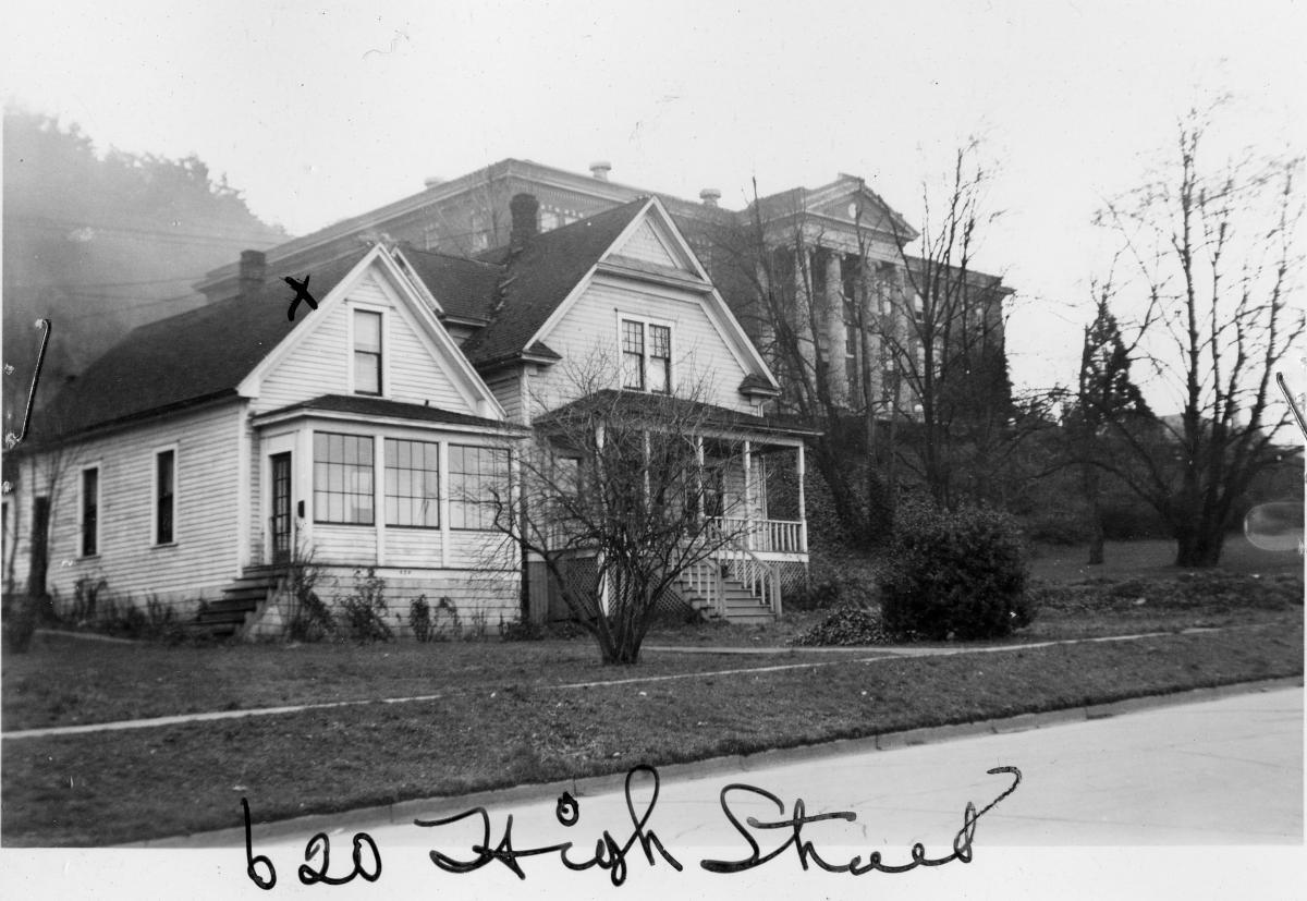 620 High Street, circa 1950, University Archives.