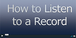 How to listen to a record