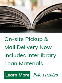 On-site Pickup & Mail Delivery Now Includes Interlibrary Loan Materials