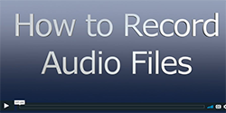 How to record audio file