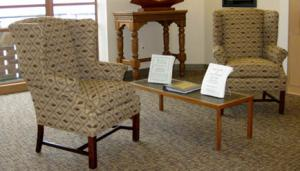 Chairs donated by Paul and Mary Ann Ford