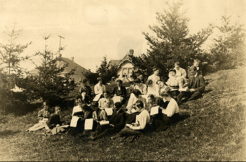 Art Class, 1906, Campus History Collection, SC