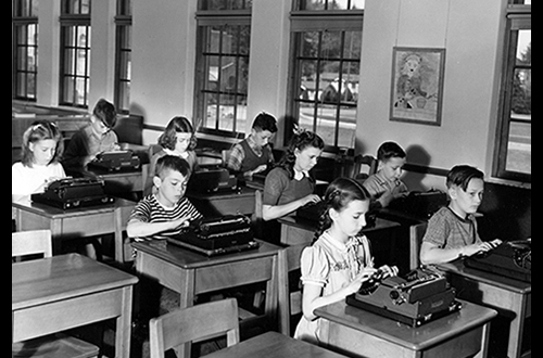 Campus School typing class, 1946, Campus School Collection, SC