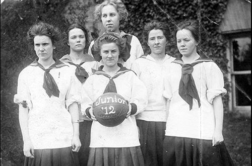 Bellingham Normal School basketball team, Junior class, 1912, UARM