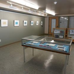 Image of entry to exhibit area in Special Collections.