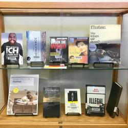 Germany: Integrating Immigrants display. Features relevant books.