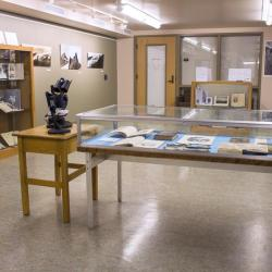 Exhibit space in Special Collections.