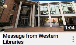 Message from Western Libraries