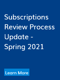 Subscriptions Review Update - Spring 2021