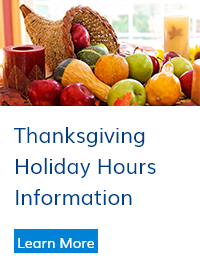 Thanksgiving Holiday Hours Information