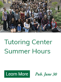 Tutoring Center Support for Students Now Online